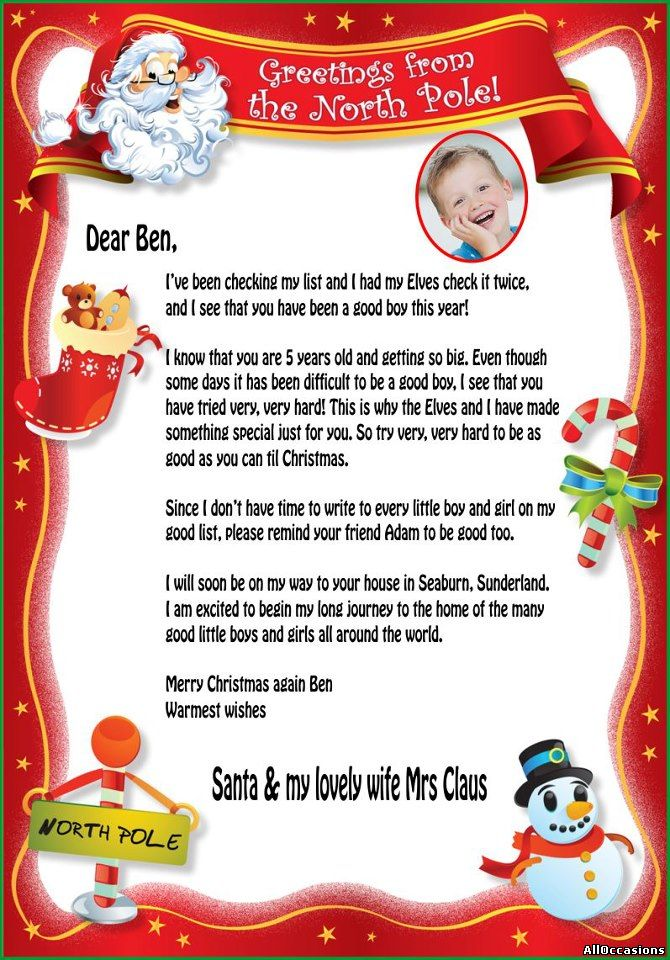 Free Naughty Letters From Santa Claus | Caroldoey